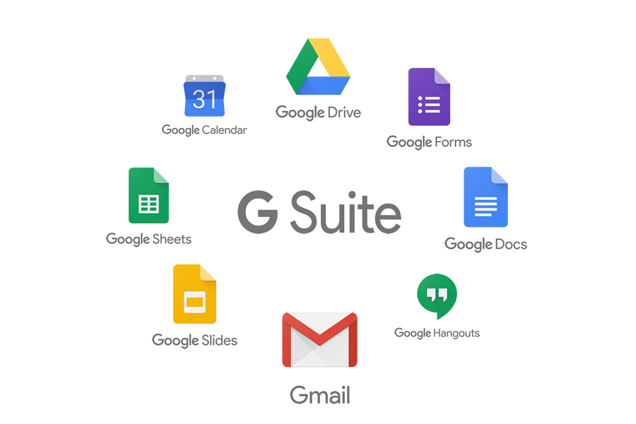 Hele G Suite pakken fra Google