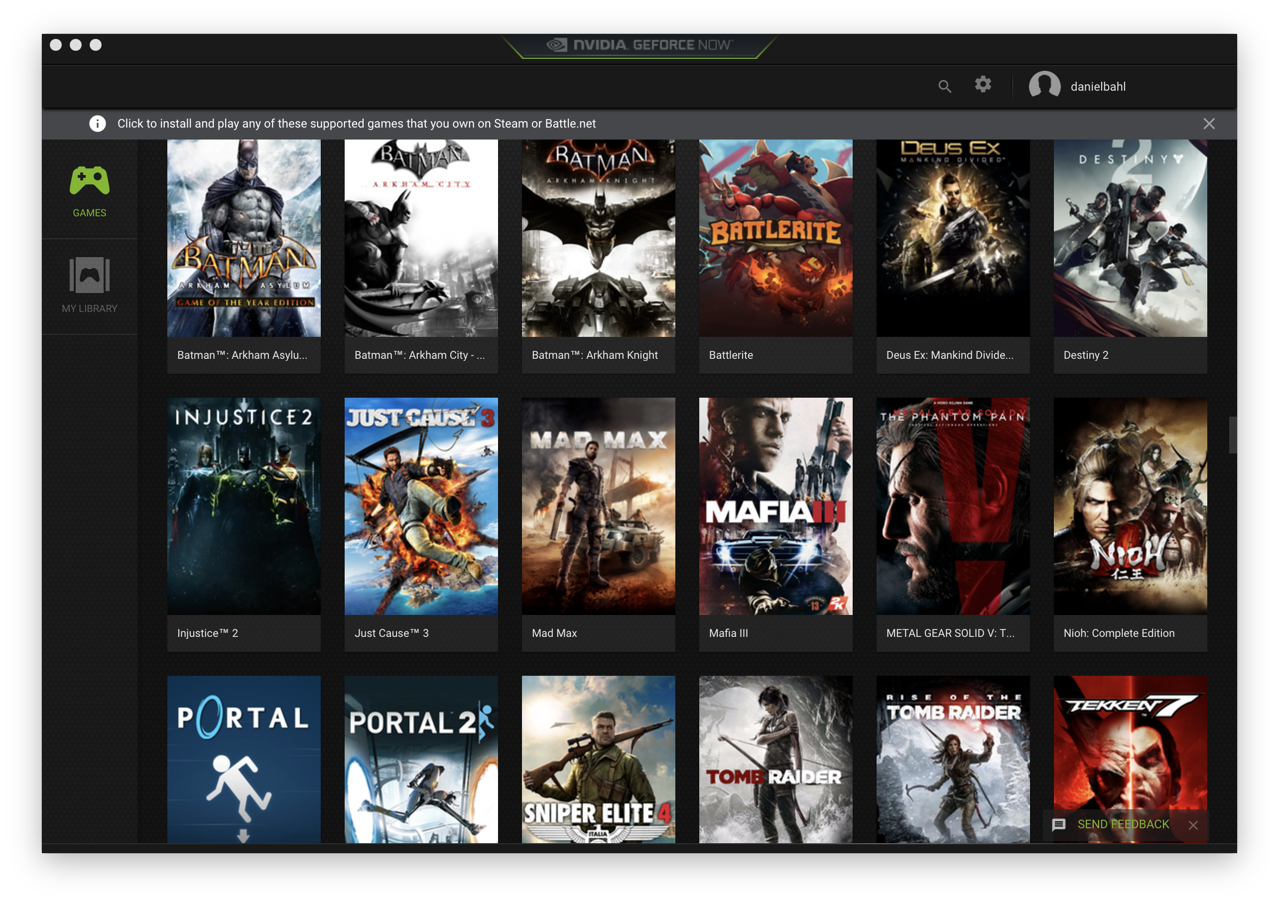 Games on GeForce Now