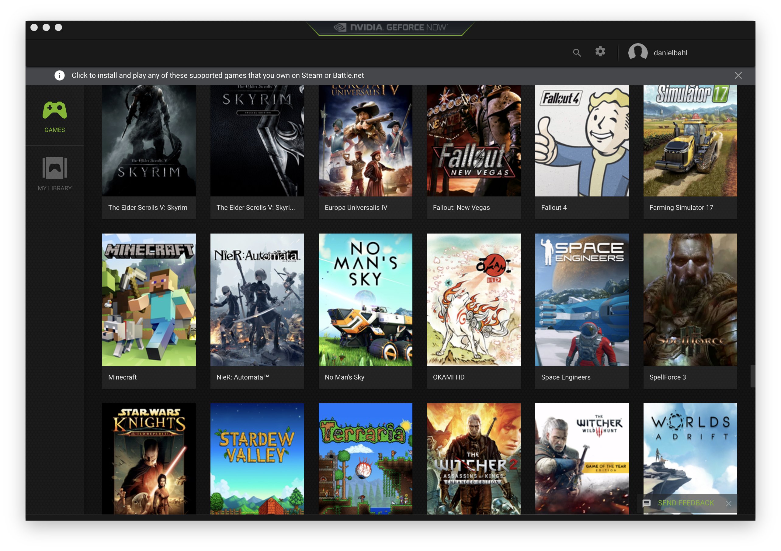 Screen Shot af spil på NVIDIA GeForce Now Cloud