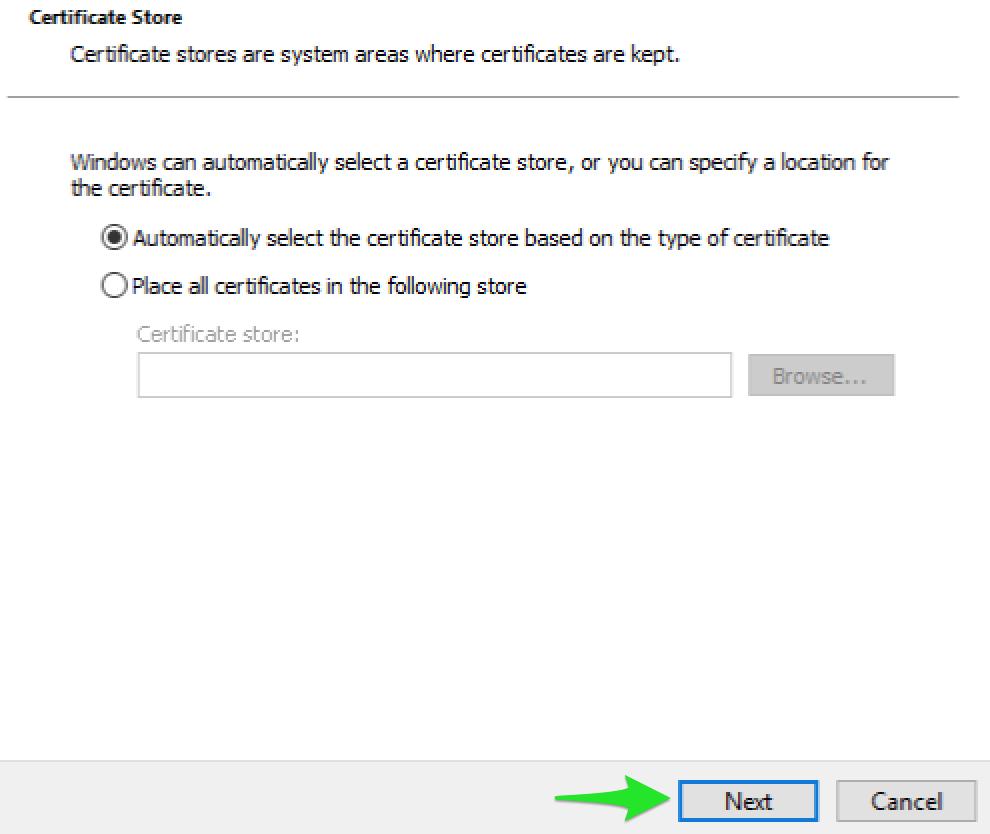 Installation af VPN klient certifikat