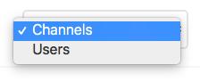 Vælg en type - kanaeler eller brugere - rocketchat.dk