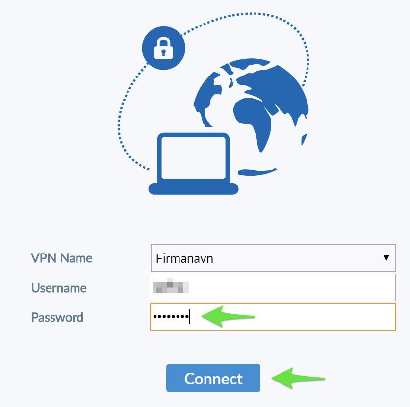 Start ServicePoint Vpn Client Services forbindelsen