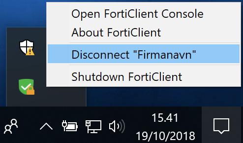 Afbryd ServicePoint Vpn Client Services forbindelsen