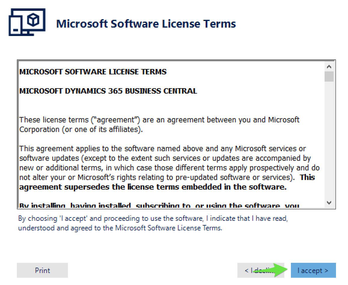 Godkendelse af License Agreement