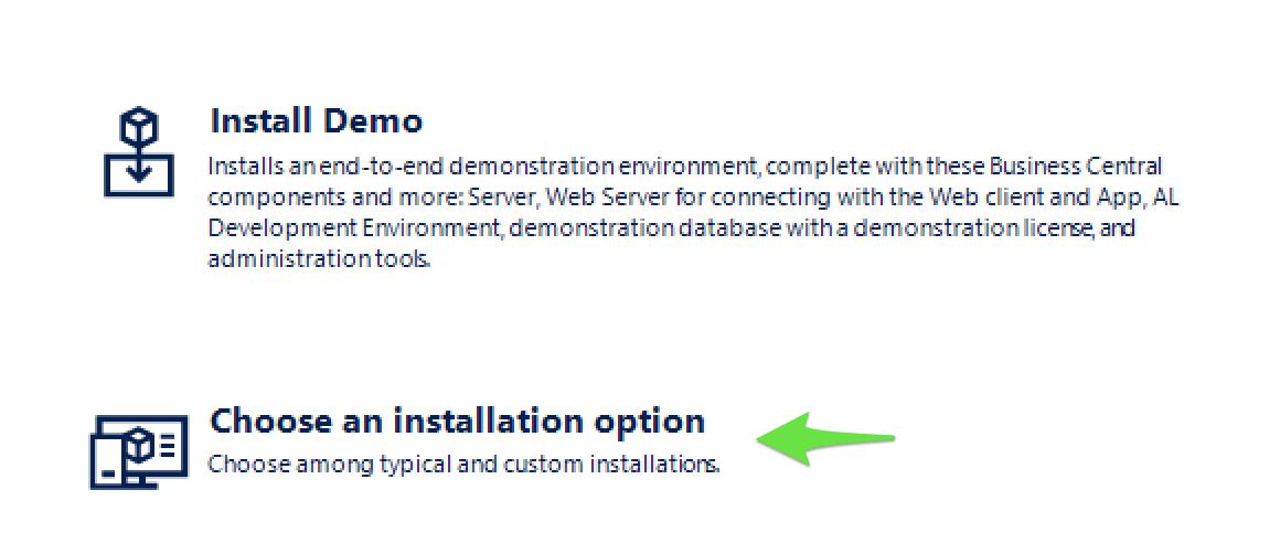 Valg af installations moduler