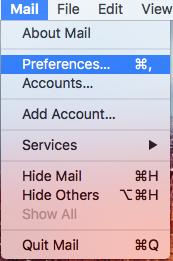 "Mail > Preferences""></li><li>Switch to the ""Accounts"" tab.<img width="